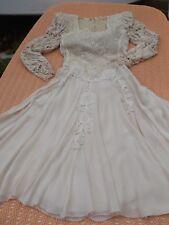 Damen-Kleid Festlich Gr. 38/40 creme von BON -BON