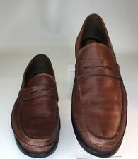 HUSH PUPPIES MENS PENNY LOAFERS G ZERO BROWN PEBBLE LEATHER SIZE 16M EUC