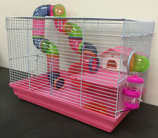 Pink 2-Levels Hamster Habitat Rodent Gerbil Mouse Mice Rats Small Animal Cage