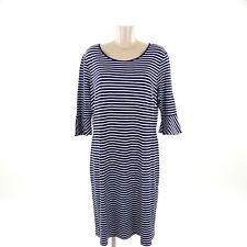 OLSEN Maxikleid Dress Sommerkleid Ringel Streifen Blau Weiß Gr. DE 48