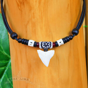 Surfer Necklace Shark Tooth Necklace Leather Necklace Men Necklace Surf