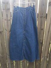 Vtg Levis USA Blue Jean Skirt Denim Orange Tab Button Front Back Pockets 27x39