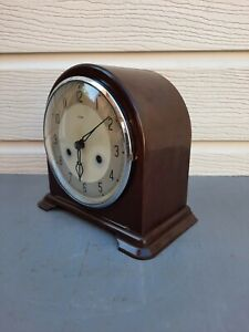 Smiths Bakelite Dome top mantel clock working cleaned lubricated polished    B10