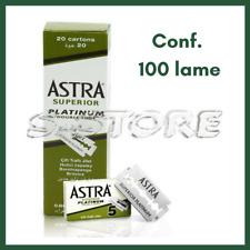 ASTRA SUPERIOR PLATINUM LAME DA BARBA CONF. DA 100 LAMETTE RASATURA UOMO