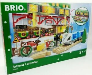RARE COLLECTABLE RARE BRIO Christmas Advent Calendar WOODEN RAILWAY TRACK