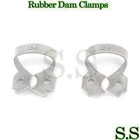 3 Set Of 2 Endodontic Rubber Dam Clamps # 12A & 13A Dental