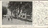 Kingfield ME Main St. c1910 Postcard - Used #1
