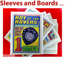 25 x Roy of the Rovers Size4 TALL A4 Comic Bags and Boards Acid Free