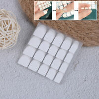 10sheetsx20pcs white double sided adhesive tabs glue tape for false nail tip HL
