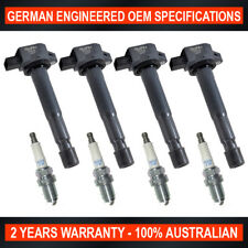 Set 4x NGK Spark Plugs & 4x Swan Ignition Coils for Honda Accord Euro CL9 2.4L