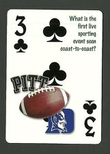 Football Duke vs University of Pittsburgh TV Broadcast Neat Playing Card #1Y5