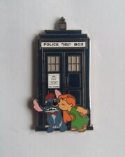 PINS DISNEY FANTASY PIN LILO KISS STITCH POLICE BOX #2 BLUE