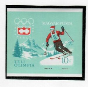 S22266) Hungary 1963 MNH Olympic Winter Games Innsbruck S/S Imperforated