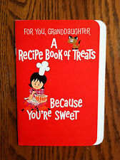 13 Page Hallmark Christmas Card with Recipes for Granddaughter