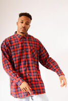 Vintage Checked Flannel Shirt Red (2XL)