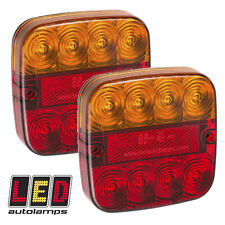Pair 12v Rear LED Trailer / Caravan Lights *3 YEAR WNTY* Stop/Tail/Indicator
