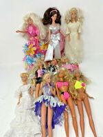 Barbie Lot of 10 Dolls 9 Dressed 1970's thru  2000's Mattel Vintage