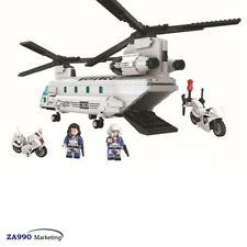 830pcs Military Air Force Helicopter Building Blocks DIY Toys Gift For Kids