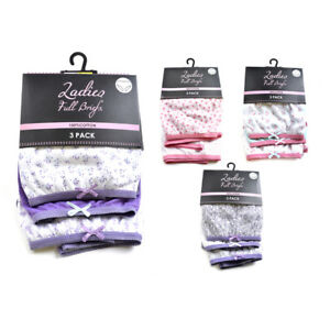 NEW 3 PACK LADIES WOMENS COTTON MAMA FULL BRIEFS PANTS UNDERWEAR SIZE 12-26