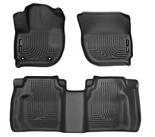 2015-2018 Honda Fit Black Husky Liners WeatherBeater 1st & 2nd Row Floor Mat Set