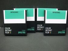 Impossible Spectra color film polaroid Spectra Cameras 4 packs of film