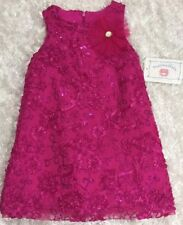 Marmellata girls Size 4 Years Pink Soutache Sequins Tulle Fancy Dress NWT