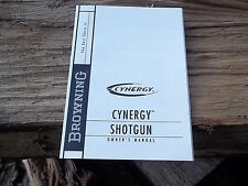 BROWNING CYNERGY Over/Under 12 GAUGE SHOTGUN OWNERS MANUAL