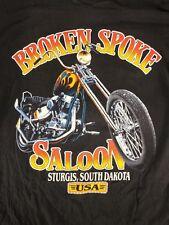 STURGIS Broken Spoke Saloon Motorcycle Rally Size Large Long Sleeve Flame Harley