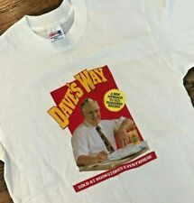 Vtg 90s 1992 Daves Way World Book Tour Wendy's Founder Promo T Shirt USA Mens L