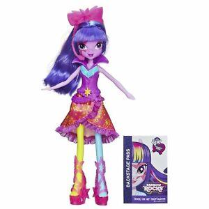 "My Little Pony Equestria Hasbro Girls Neon 9"" Doll Purple Hair Twilight Sparkle"