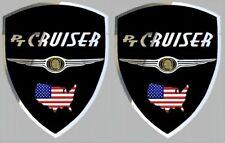 2 autocollants sticker chrome CHRYSLER PT CRUISER (idéal ailes avant)