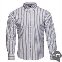 New Rockport Men's Frost Striped Long Sleeve Shirt White Size S M L XL 2XL
