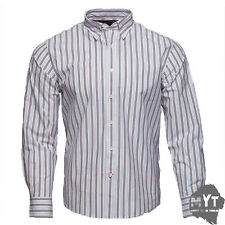 New Rockport Men's Frost Striped Long Sleeve Shirt White Size