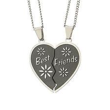 Bestfriends Forever Heart Pendant Necklace BestFriends Pendant, Friendship Gifts