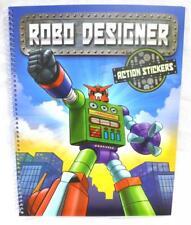 Depesche 1960 A  Robo Designer Action Sticker Stickerheft Roboter Malbuch Jungen