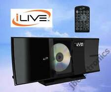 iLIVE BLUETOOTH HOME MUSIC SYSTEM CD FM STEREO USB 3.5MM SHELF BLACK NEW IHB603B