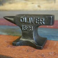 Oliver 1929 Cast Iron Anvil W/ Antique Finish and Raised Letters Paperweight