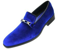 d87669f5eaa Amali Men s Faux Velvet Slip On Smoking Slipper with Metal and Knitted  Buckle