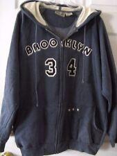 Banana Jack BROOKLYN 34 hoodie jacket w zipper Mens roomy sz L Blue Gray heather