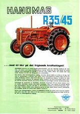 Hanomag R35/45 Tractor Original Sales Brochure In Swedish