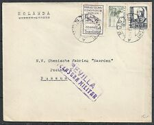 Spain 1937 censored Civil-Warcover Alimonte to Bussum