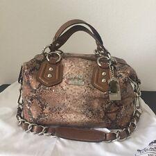 Coach Madison Sequin Audrey 2 Way Handbag Satchel Shoulder Bag 15269 Pre-owned