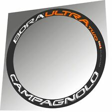 CAMPAGNOLO BORA ULTRA TWO ORANGE/WHITE 3D DESIGN REPLACEMENT RIM DECAL SET