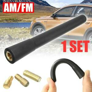CARBON FIBER CAR AM/FM RADIO SHORT ANTENNA STUBBY SCREW ALUMINUM BLACK