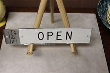 """Vinyl Door Sign 2"""" x 8"""" Engraved """"Open"""""""