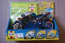HAYNES THROTTLE MOTORCYCLE MODEL AND OFFICIAL KIDS MANUAL BRAND NEW AGE 3+ YEARS
