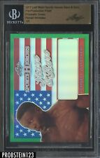 2017 Leaf Metal Pre-Production Proof Prismatic Green Pernell Whitaker BGS 1/1
