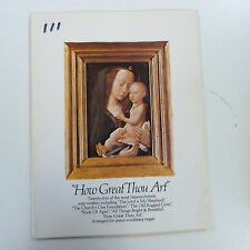 songbook HOW GREAT THOU ART 25 of most famous hyms