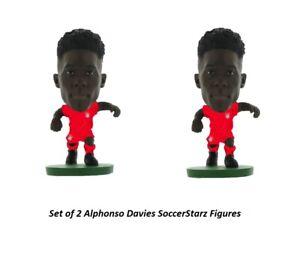 Set of 2 Alphonso Davies SoccerStarz Bayern Munich Mini 2 Inch Figures