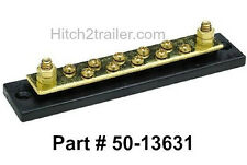 10 Gang Terminal Block Common Bus Bar with Brass Terminals for Boats 50-13631